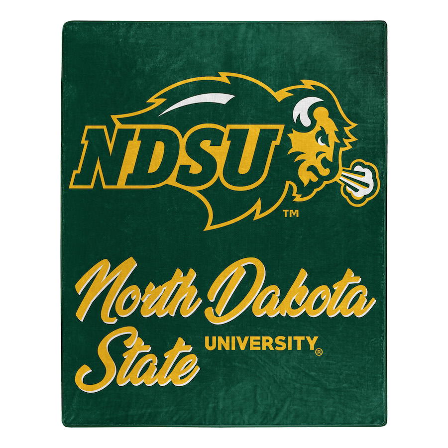 North Dakota State Bison Plush Fleece Raschel Blanket 50 x 60