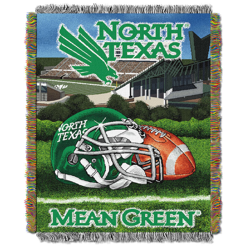 North Texas Mean Green Home Field Advantage Series Tapestry Blanket 48 x 60