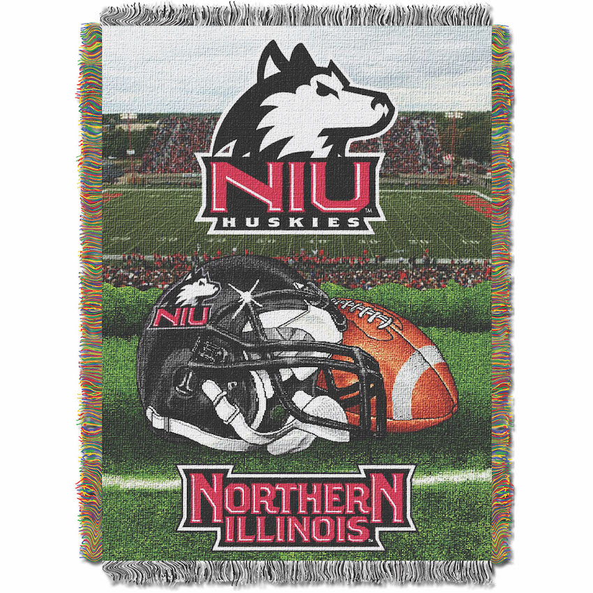 Northern Illinois Huskies Home Field Advantage Series Tapestry Blanket 48 x 60