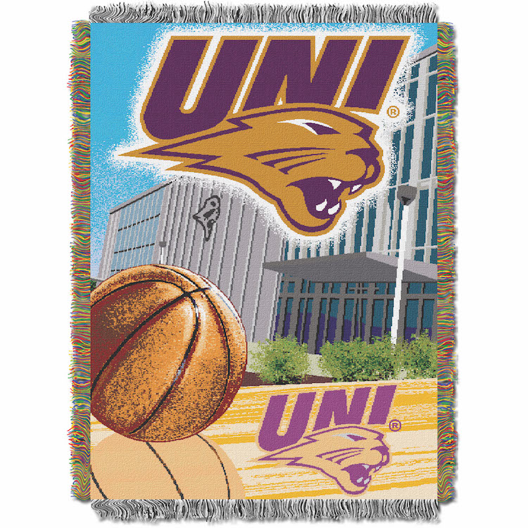Northern Iowa Panthers Home Field Advantage Series Tapestry Blanket 48 x 60