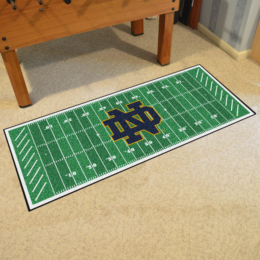 Notre Dame Fighting Irish ND Football Field Runner 30 X 72
