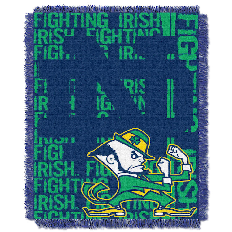 Notre Dame Fighting Irish Double Play Tapestry Blanket 48 x 60
