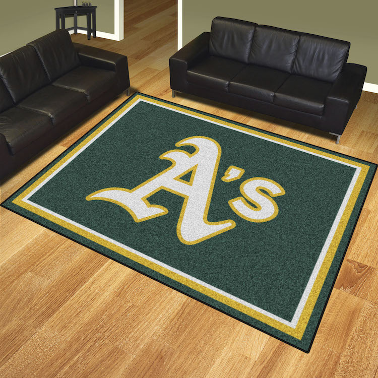 Oakland A S Ultra Plush 8x10 Area Rug Buy At Khc Sports
