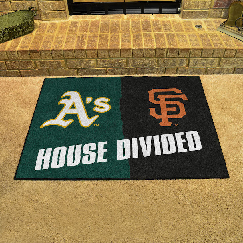 MLB House Divided Rivalry Rug Oakland A's - San Francisco Giants