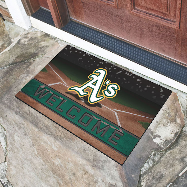 Oakland A's Recycled Crumb Rubber Door Mat