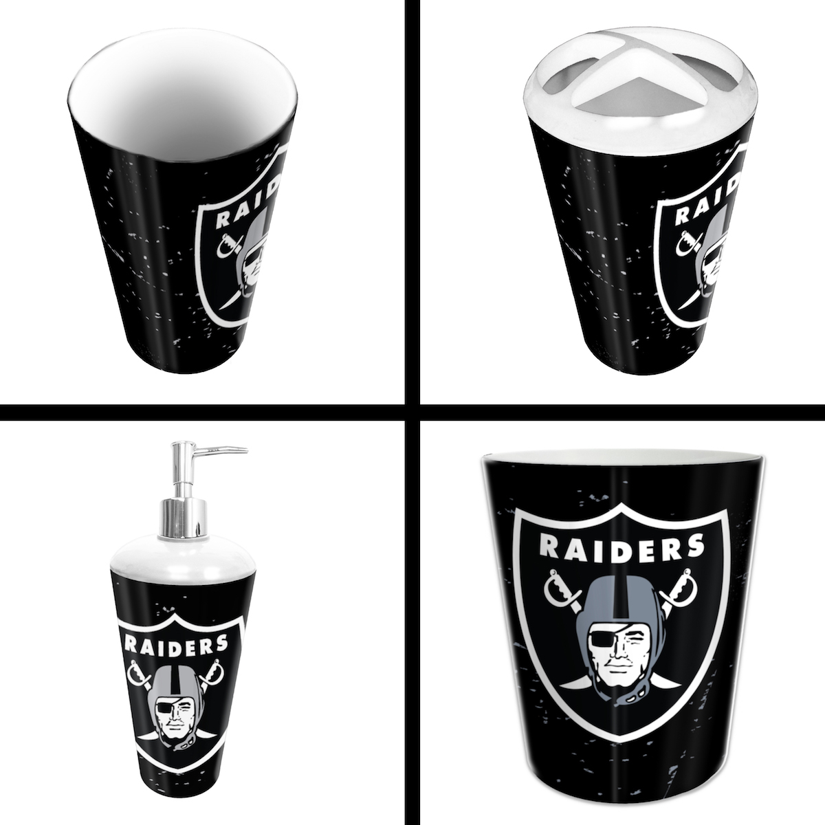 Las Vegas Raiders 4 Piece Bathroom