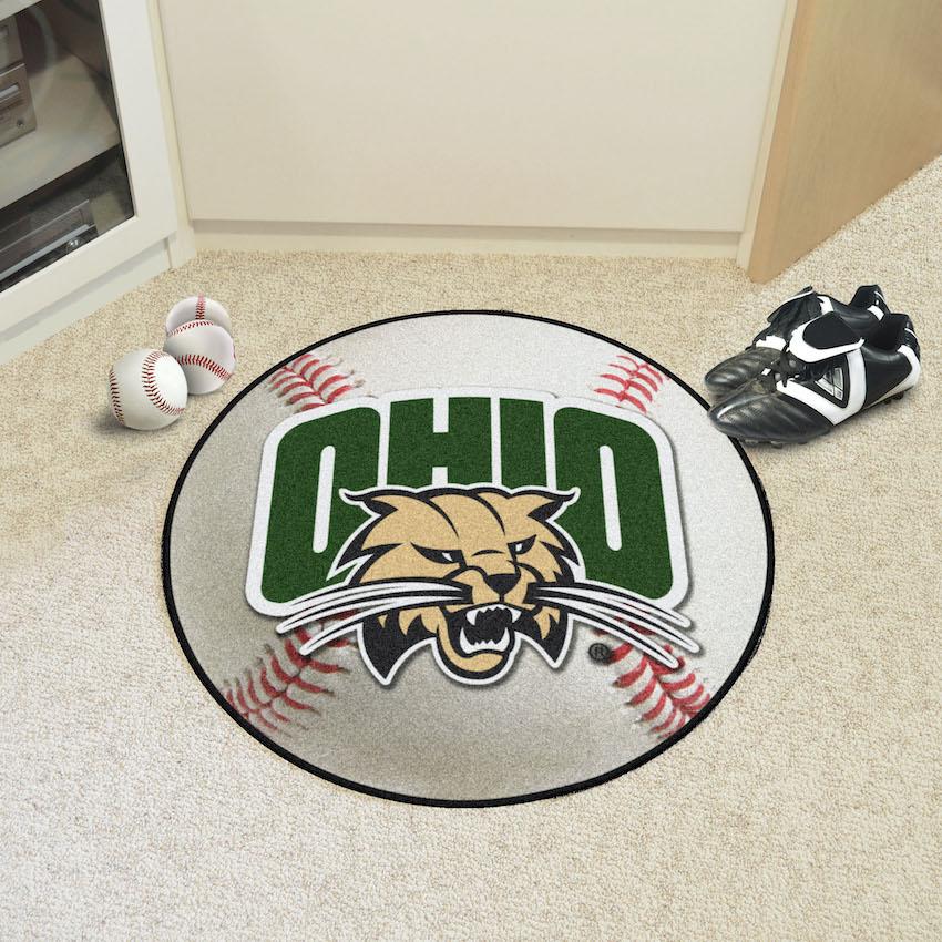 Ohio Bobcats Baseball Floor Mat
