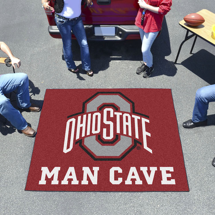 Ohio State Buckeyes MAN CAVE TAILGATER 60 x 72 Rug