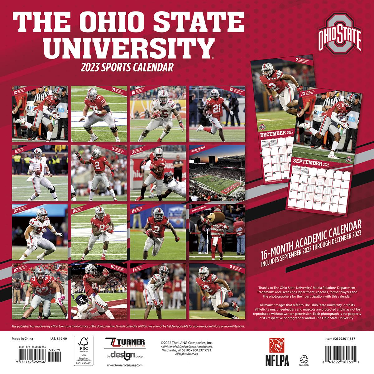 Ohio State Buckeyes 2018 Mini Wall Calendar Buy At Khc