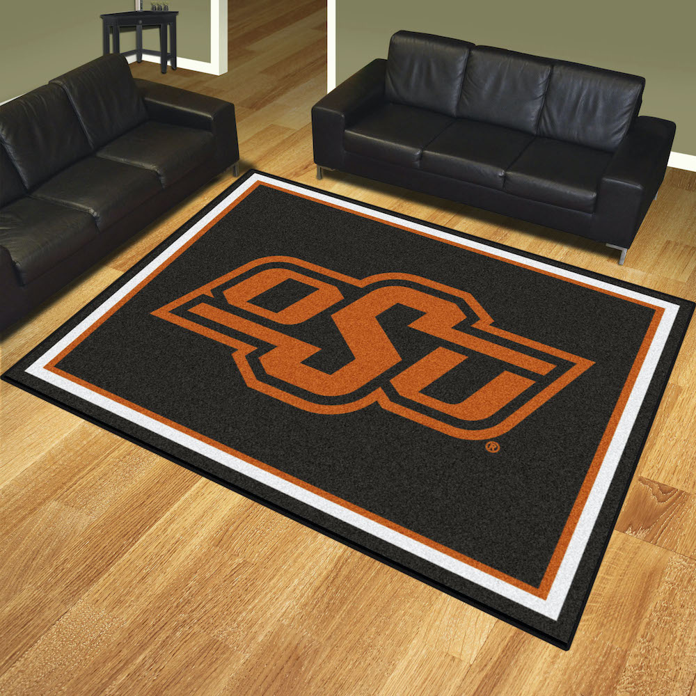 Oklahoma State Cowboys Ultra Plush 8x10 Area Rug
