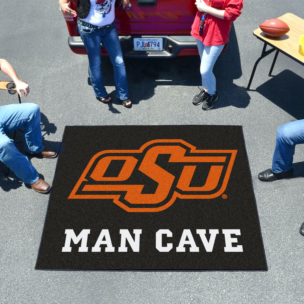 Oklahoma State Cowboys MAN CAVE TAILGATER 60 x 72 Rug
