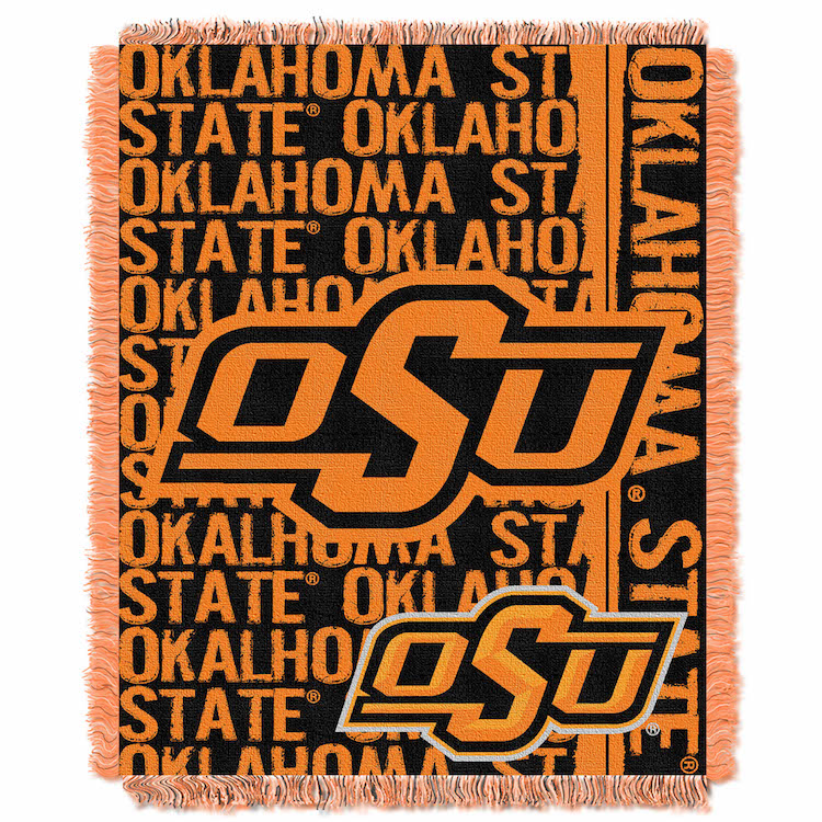 Oklahoma State Cowboys Double Play Tapestry Blanket 48 x 60