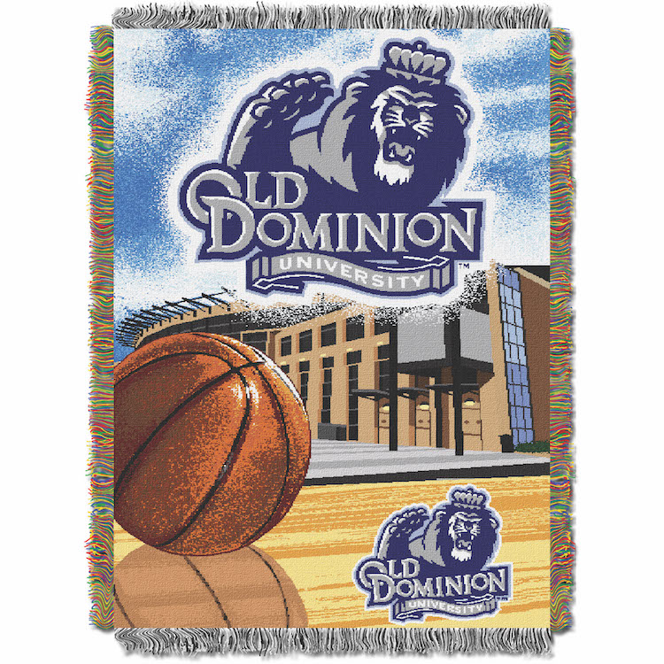 Old Dominion Monarchs Home Field Advantage Series Tapestry Blanket 48 x 60
