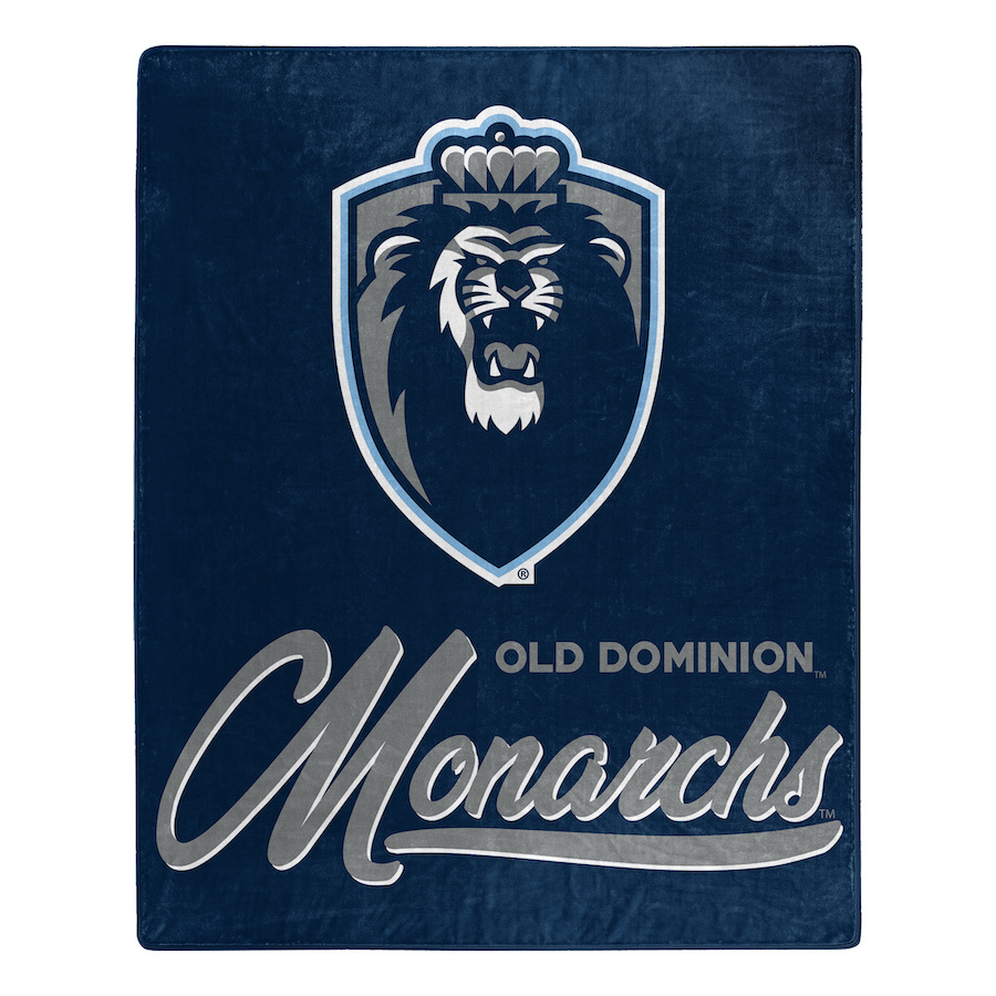 Old Dominion Monarchs Plush Fleece Raschel Blanket 50 x 60
