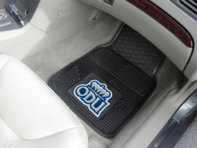 Old Dominion Monarchs Car Floor Mats 18 x 27 Heavy Duty Vinyl Pair