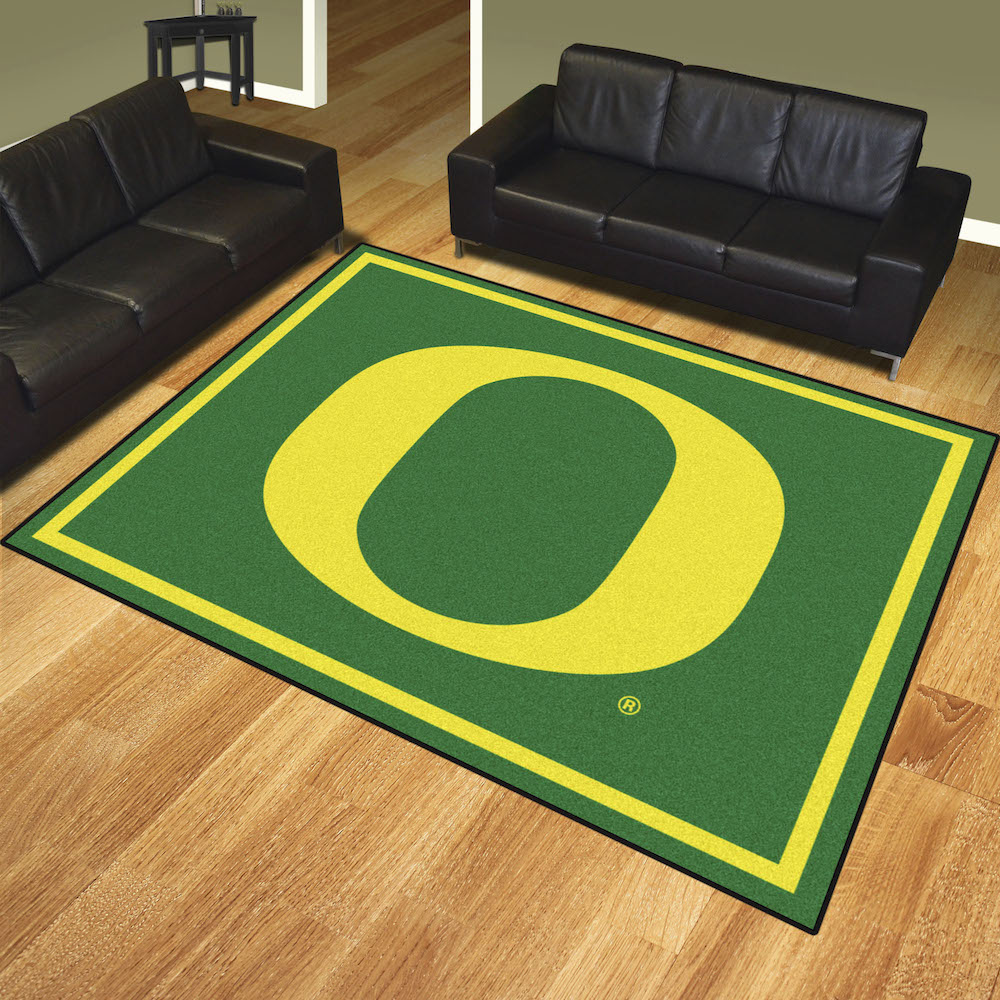 Oregon Ducks Ultra Plush 8x10 Area Rug