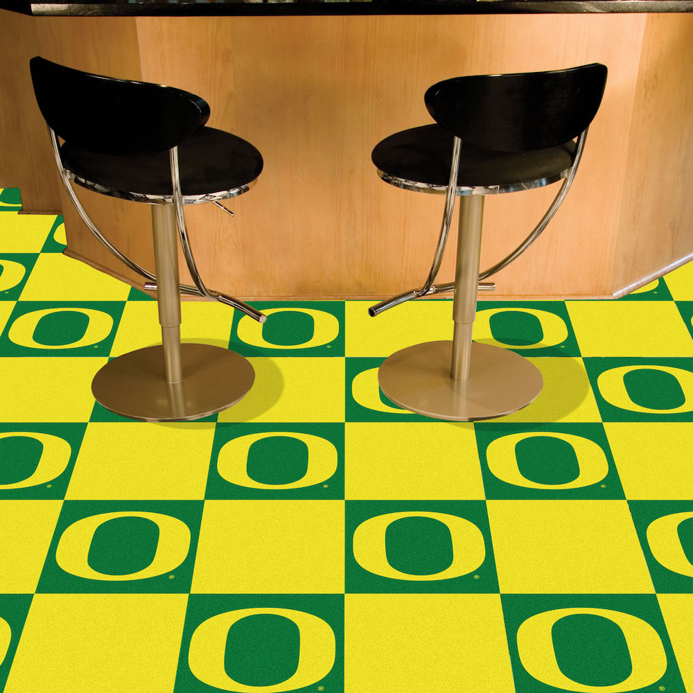 Oregon Ducks Carpet Tiles 18x18 in.