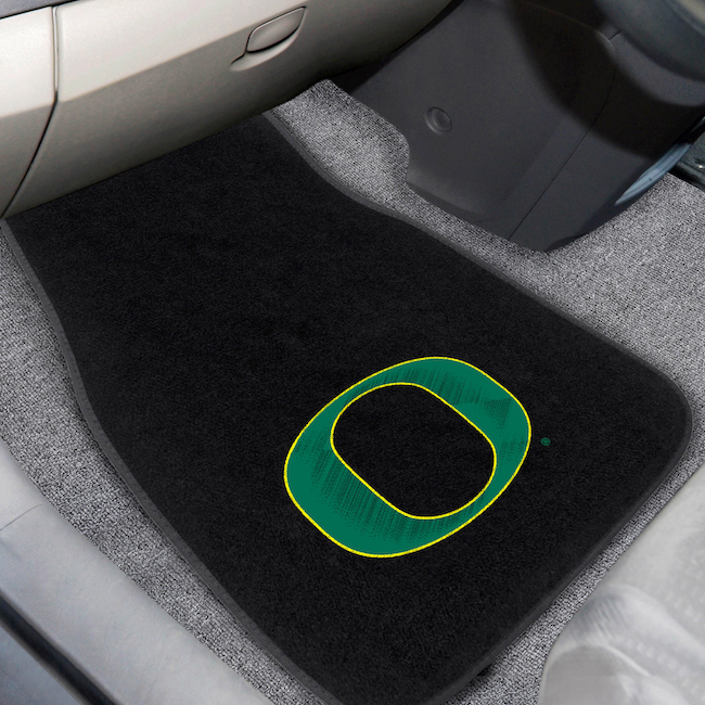 Oregon Ducks Car Floor Mats 17 x 26 Embroidered Pair