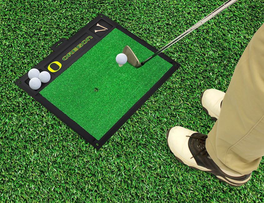 Oregon Ducks Golf Hitting Mat