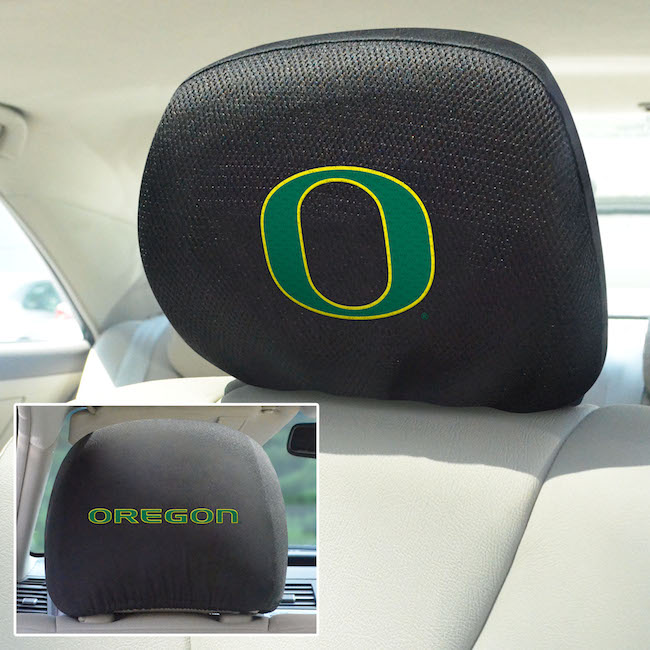 Oregon Ducks Head Rest Covers