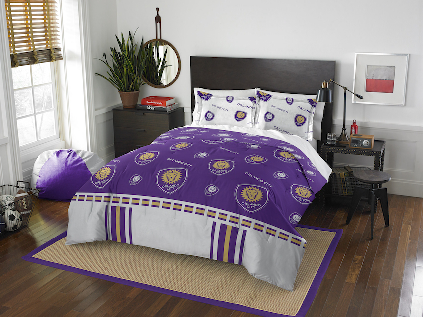 Orlando City FC QUEEN/FULL size Comforter and 2 Shams