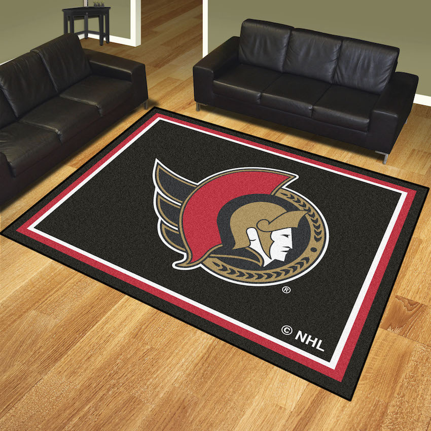 Ottawa Senators Ultra Plush 8x10 Area Rug