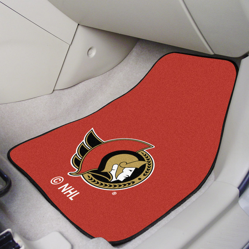 Ottawa Senators Car Floor Mats 18 x 27 Carpeted-Pair