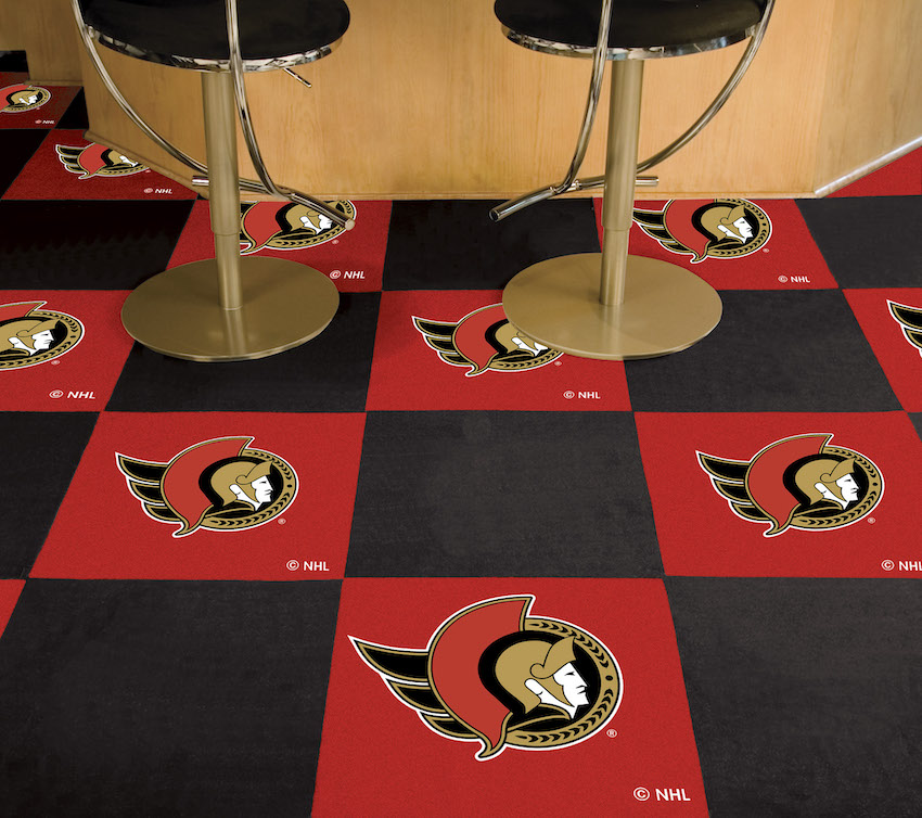 Ottawa Senators Carpet Tiles 18x18 in.
