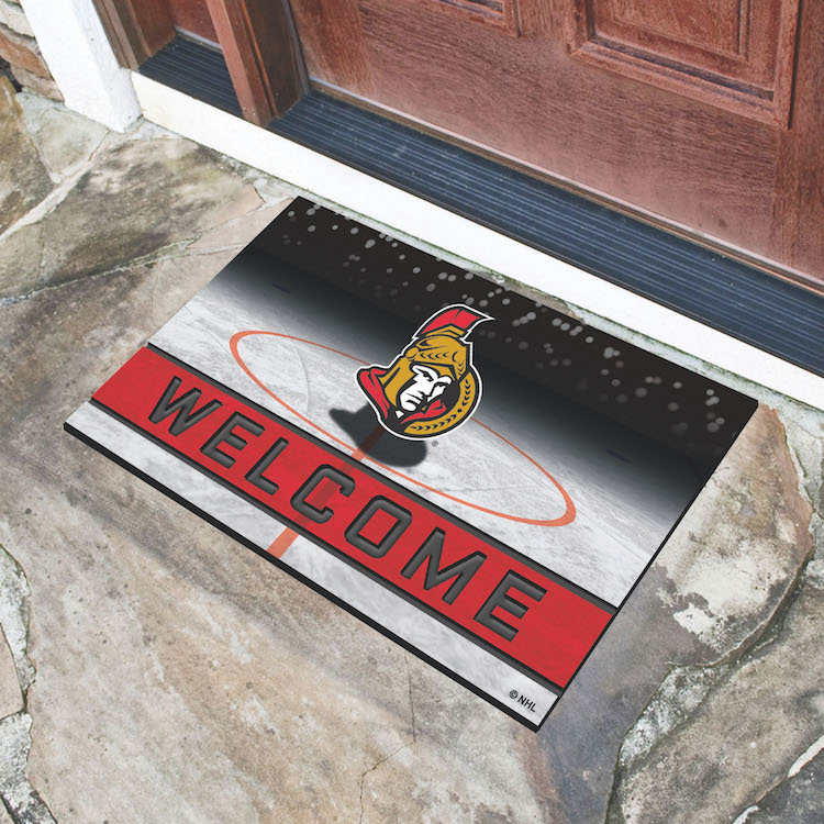 Ottawa Senators Recycled Crumb Rubber Door Mat
