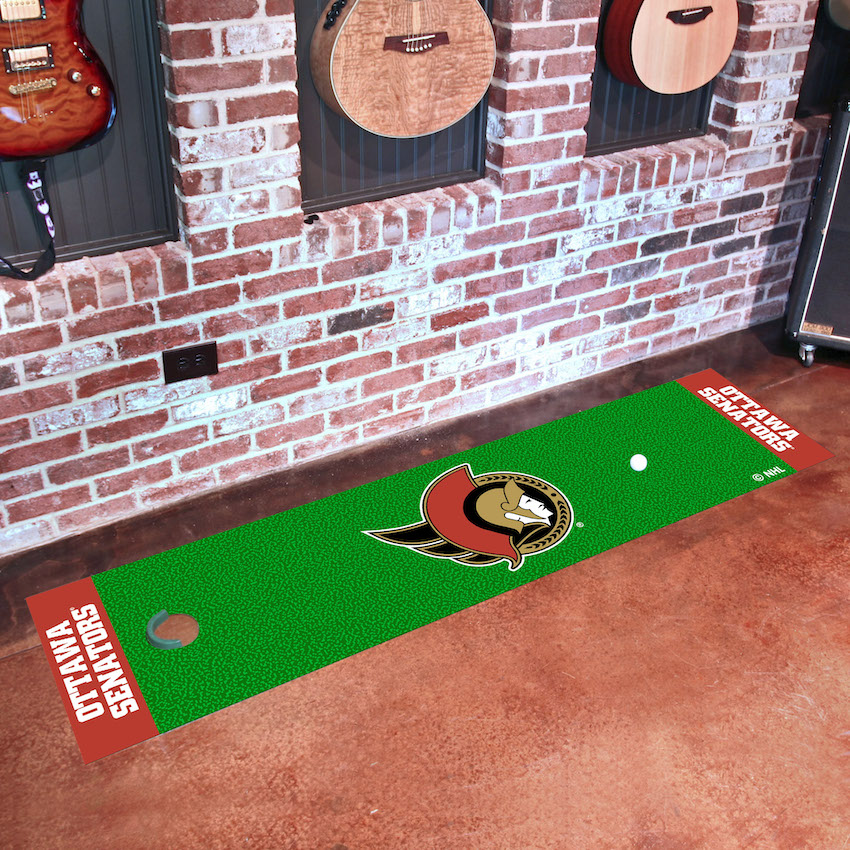 Ottawa Senators Putting Green Mat 18 x 72