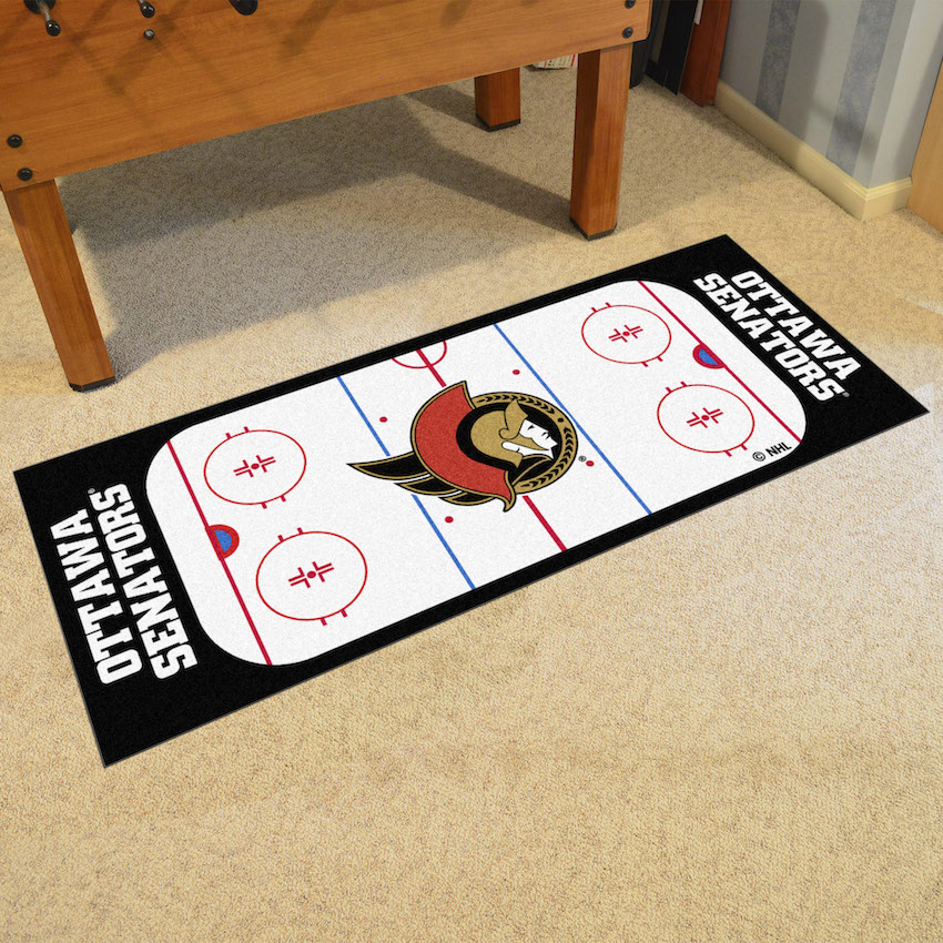 Ottawa Senators 30 x 72 Hockey Rink Carpet Runner