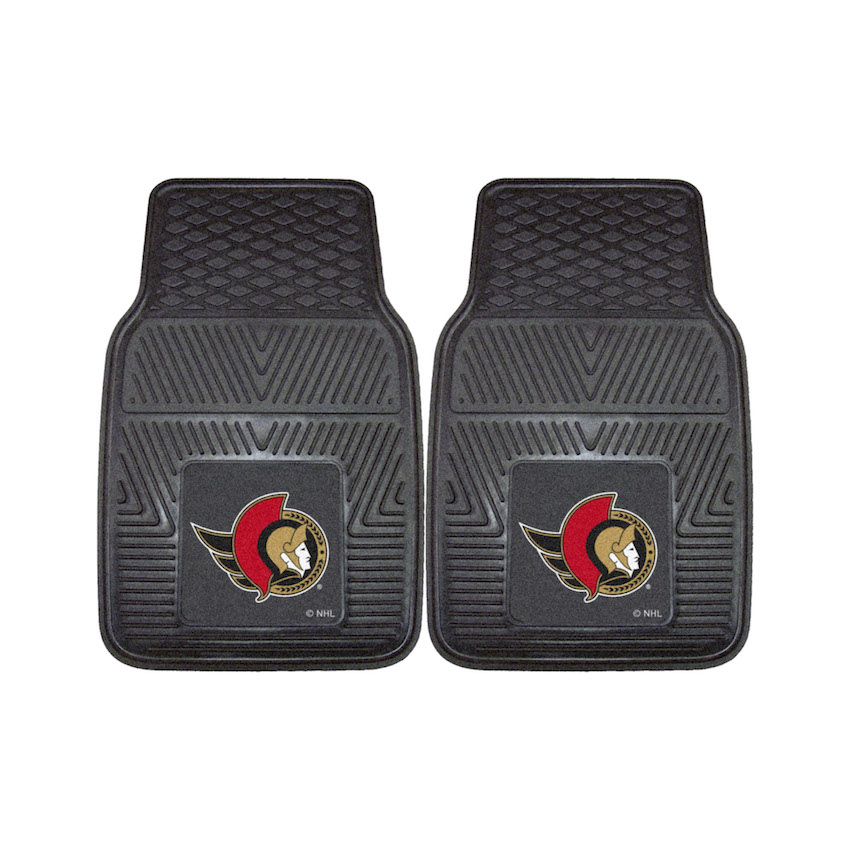 Ottawa Senators Car Floor Mats 18 x 27 Heavy Duty Vinyl Pair