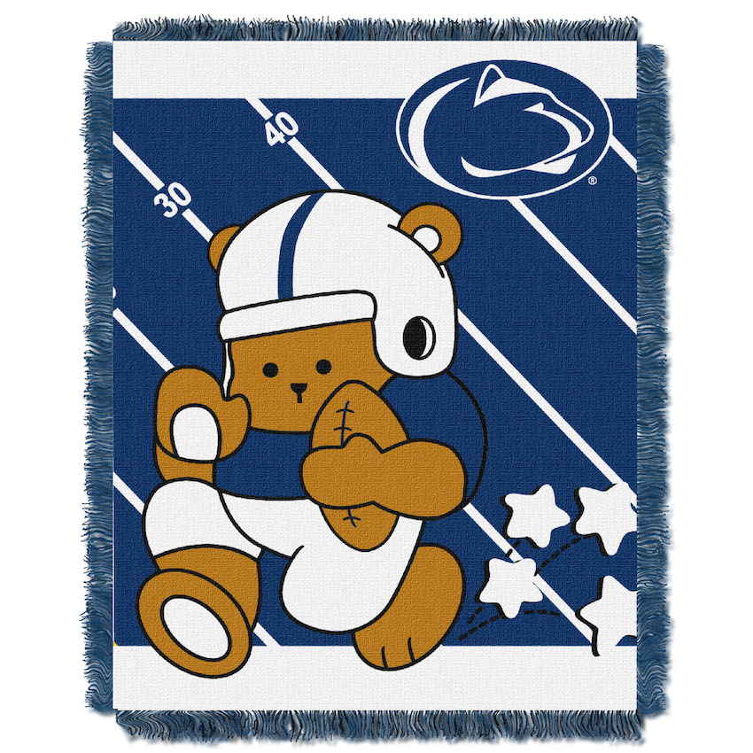 Penn State Nittany Lions Woven Baby Blanket 36 x 48
