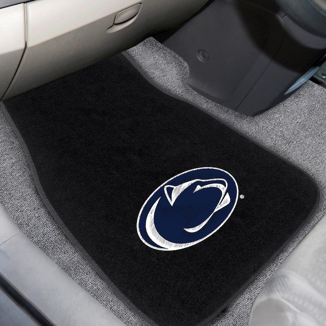 Penn State Nittany Lions Car Floor Mats 17 x 26 Embroidered Pair