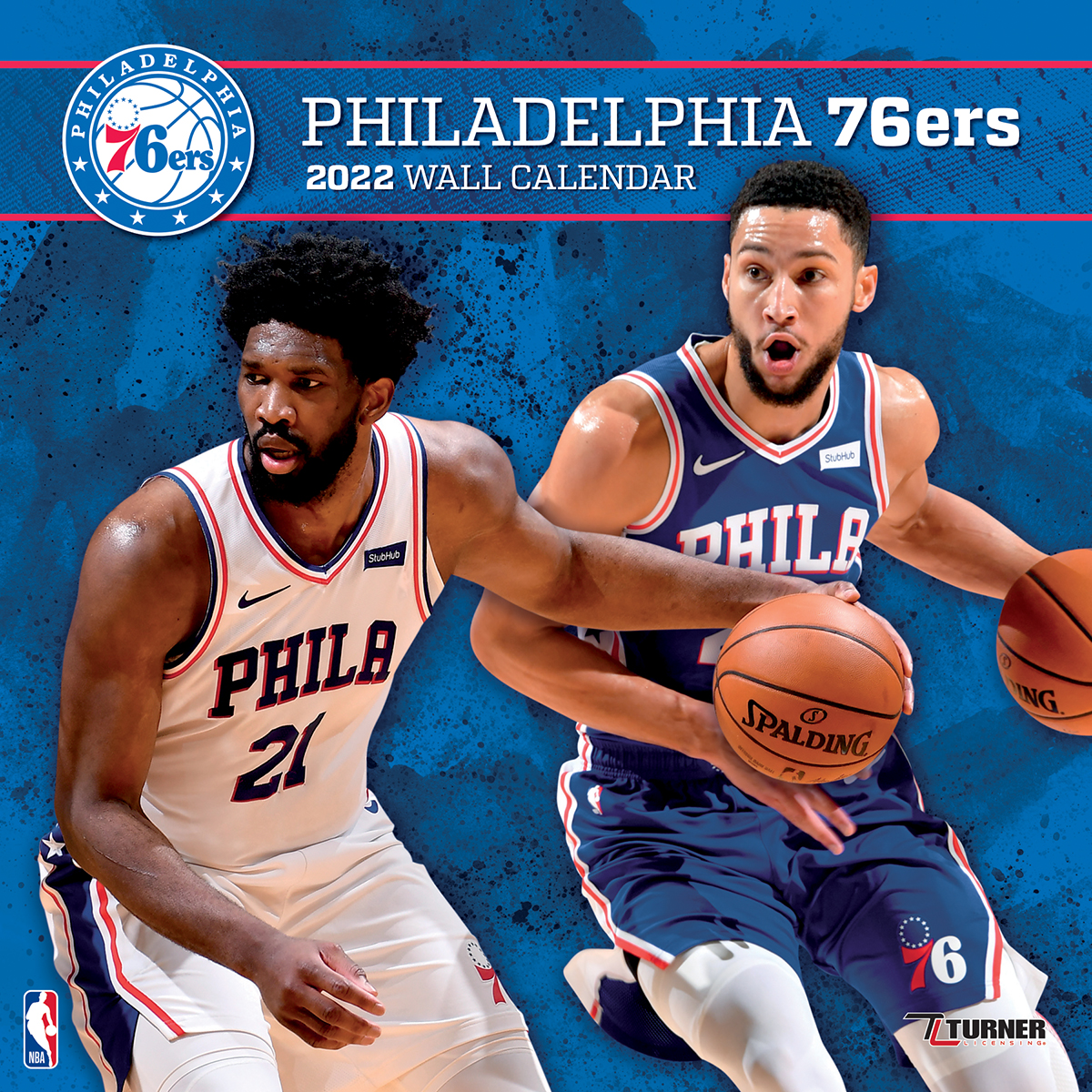 Philadelphia 76ers 2020 NBA Team Wall Calendar