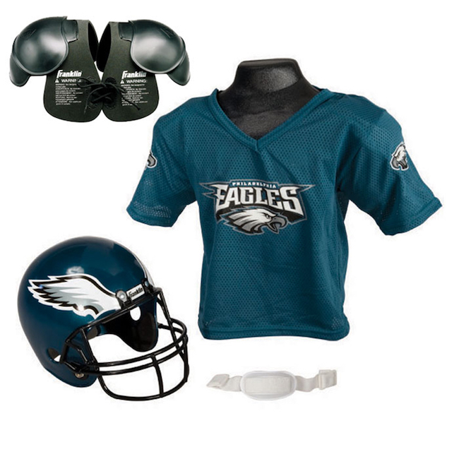 Philadelphia Eagles NFL Jersey and Helmet Set
