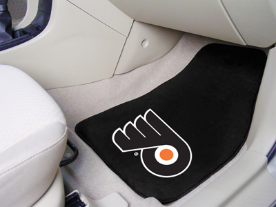 Philadelphia Flyers Car Floor Mats 18 x 27 Carpeted-Pair