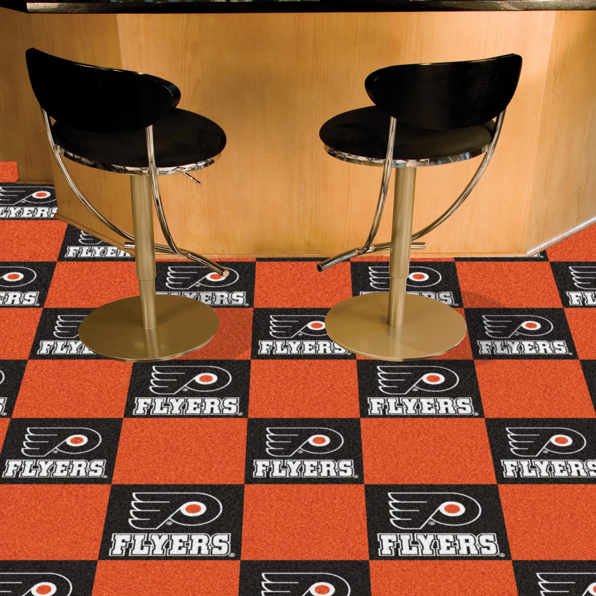 Philadelphia Flyers Carpet Tiles 18x18 in.