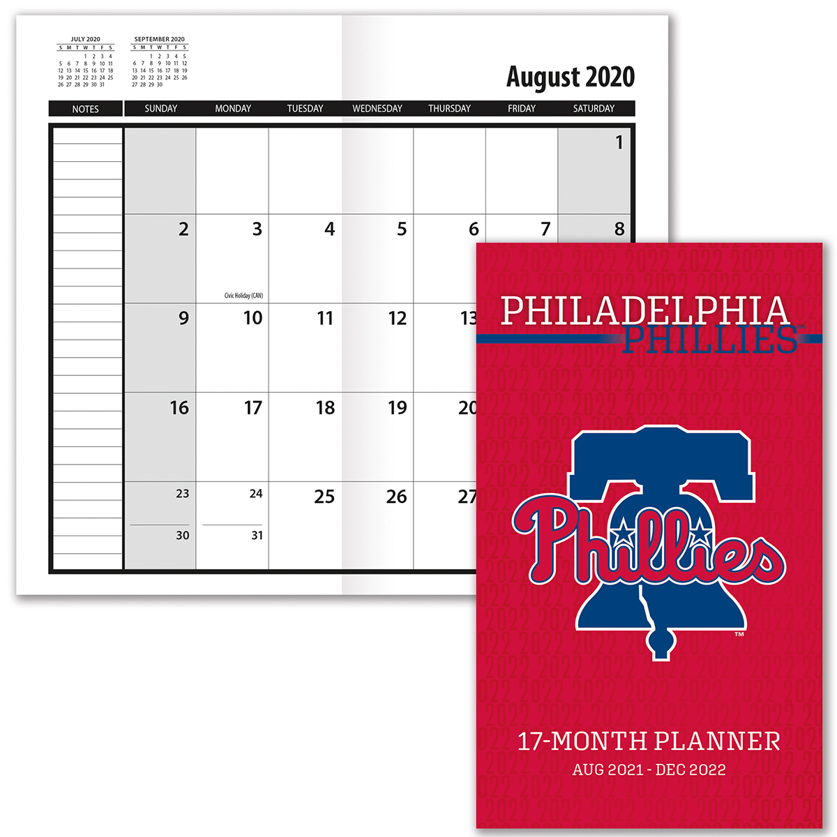 Philadelphia Phillies 2019-20 Academic Planner
