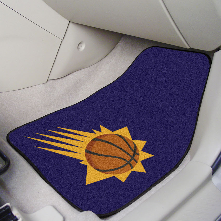 Phoenix Suns Car Floor Mats 18 x 27 Carpeted-Pair