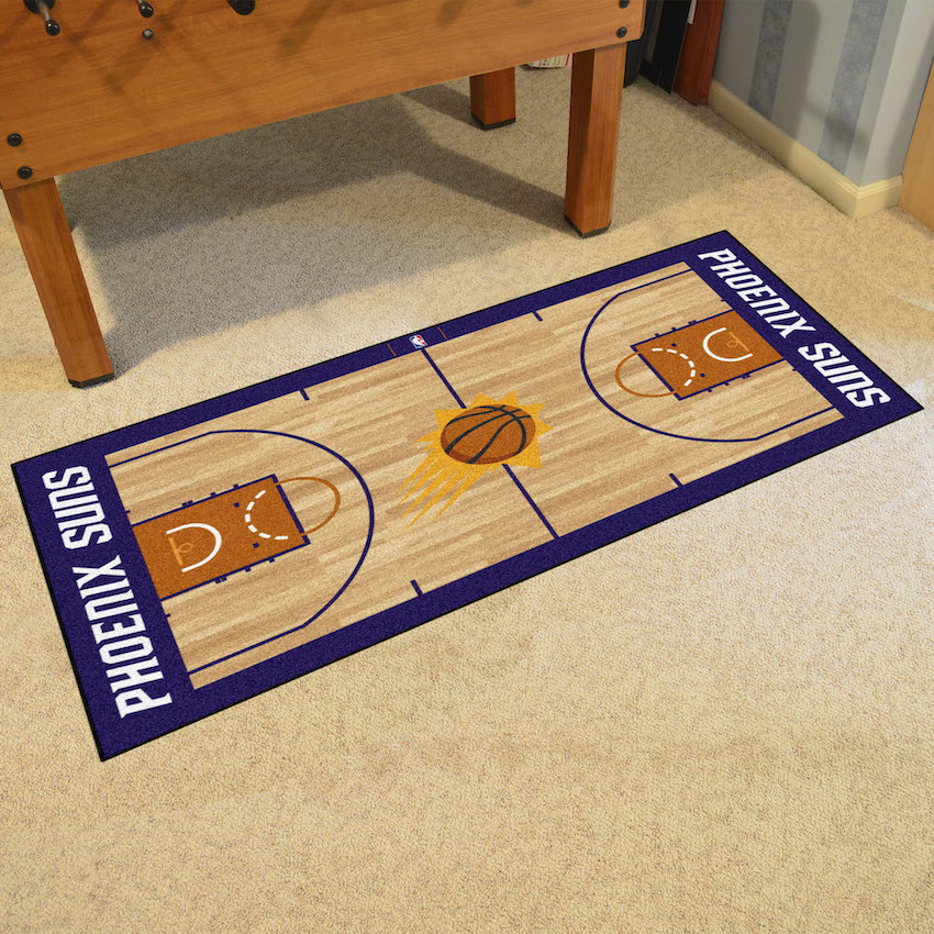Phoenix Suns 30 x 54 LARGE Basketball Court Carpet Runner
