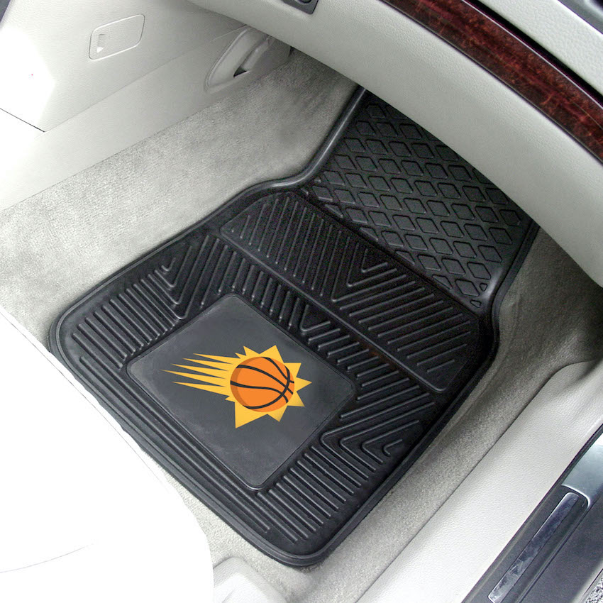 Phoenix Suns Car Floor Mats 18 x 27 Heavy Duty Vinyl Pair