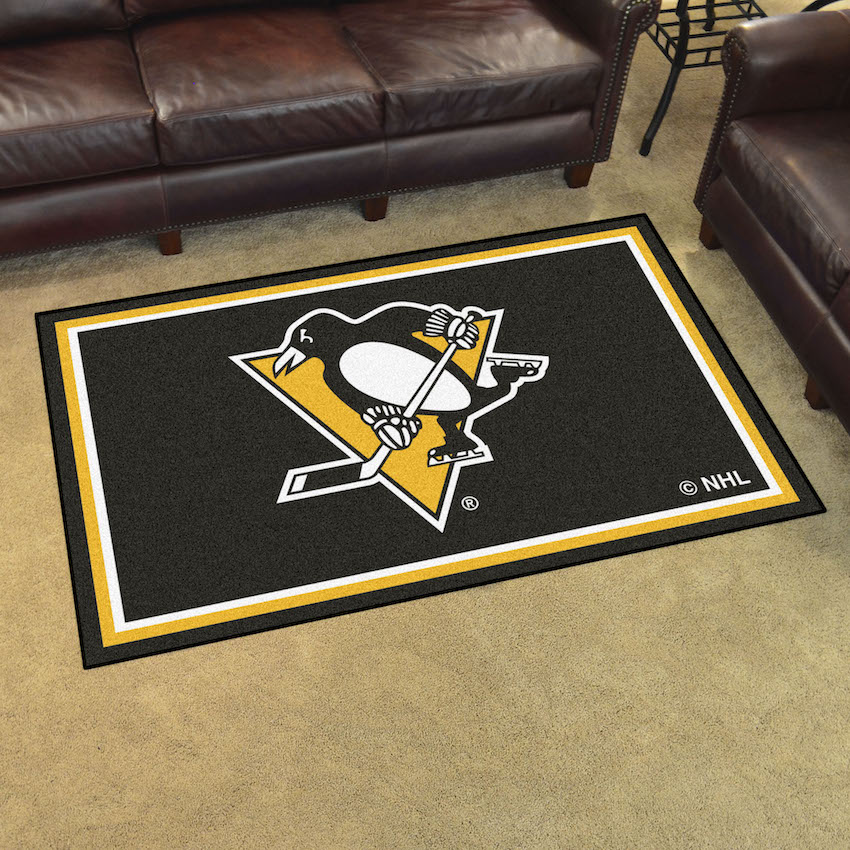 Pittsburgh Penguins 4x6 Area Rug