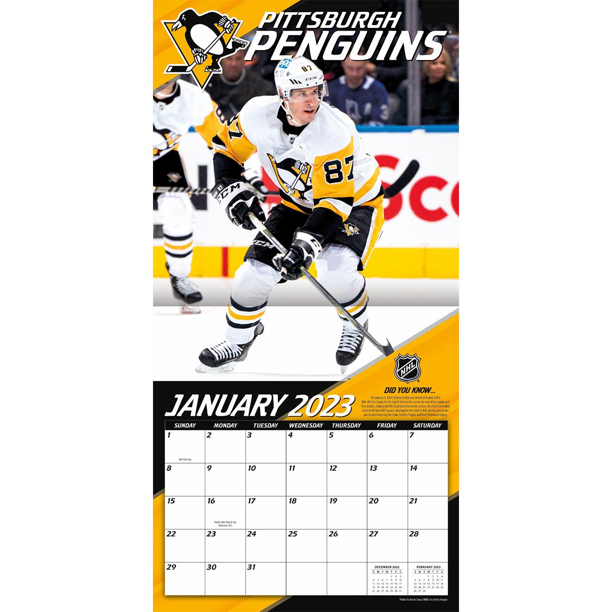 Pittsburgh Penguins Sidney Crosby 2021 NHL Wall Calendar   Buy at