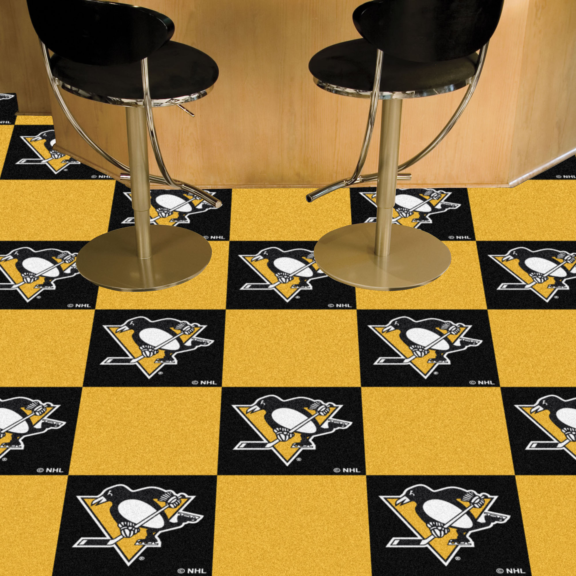 Pittsburgh Penguins Carpet Tiles 18x18 in.