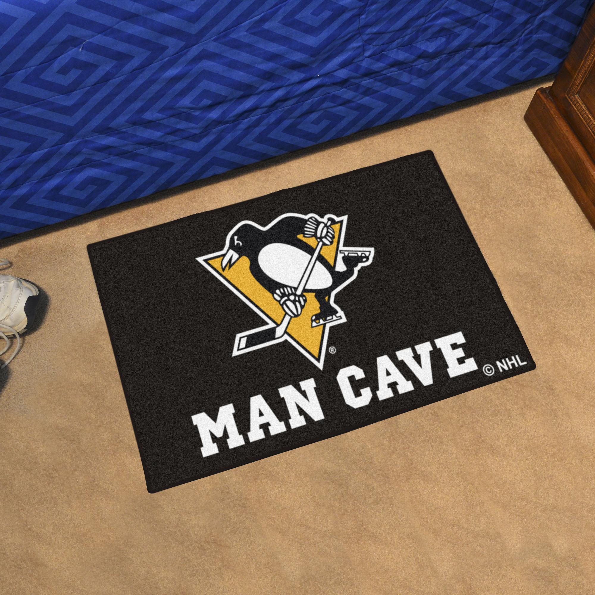 Pittsburgh Penguins MAN CAVE 20 x 30 STARTER Floor Mat