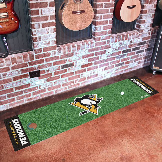 Pittsburgh Penguins Putting Green Mat 18 x 72