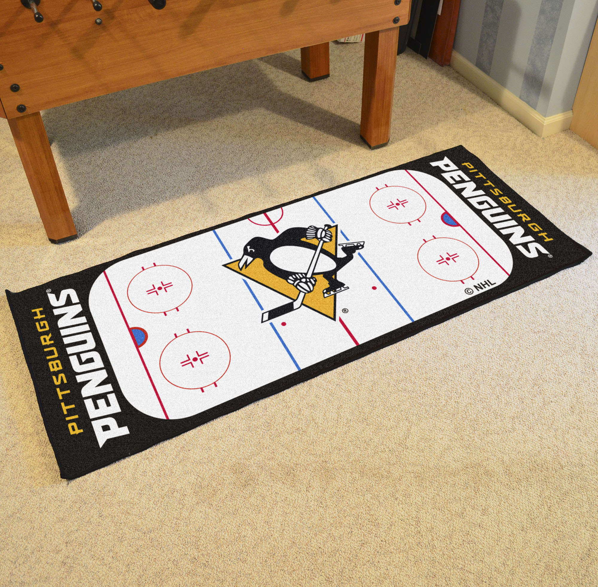 Pittsburgh Penguins 30 x 72 Hockey Rink Carpet Runner
