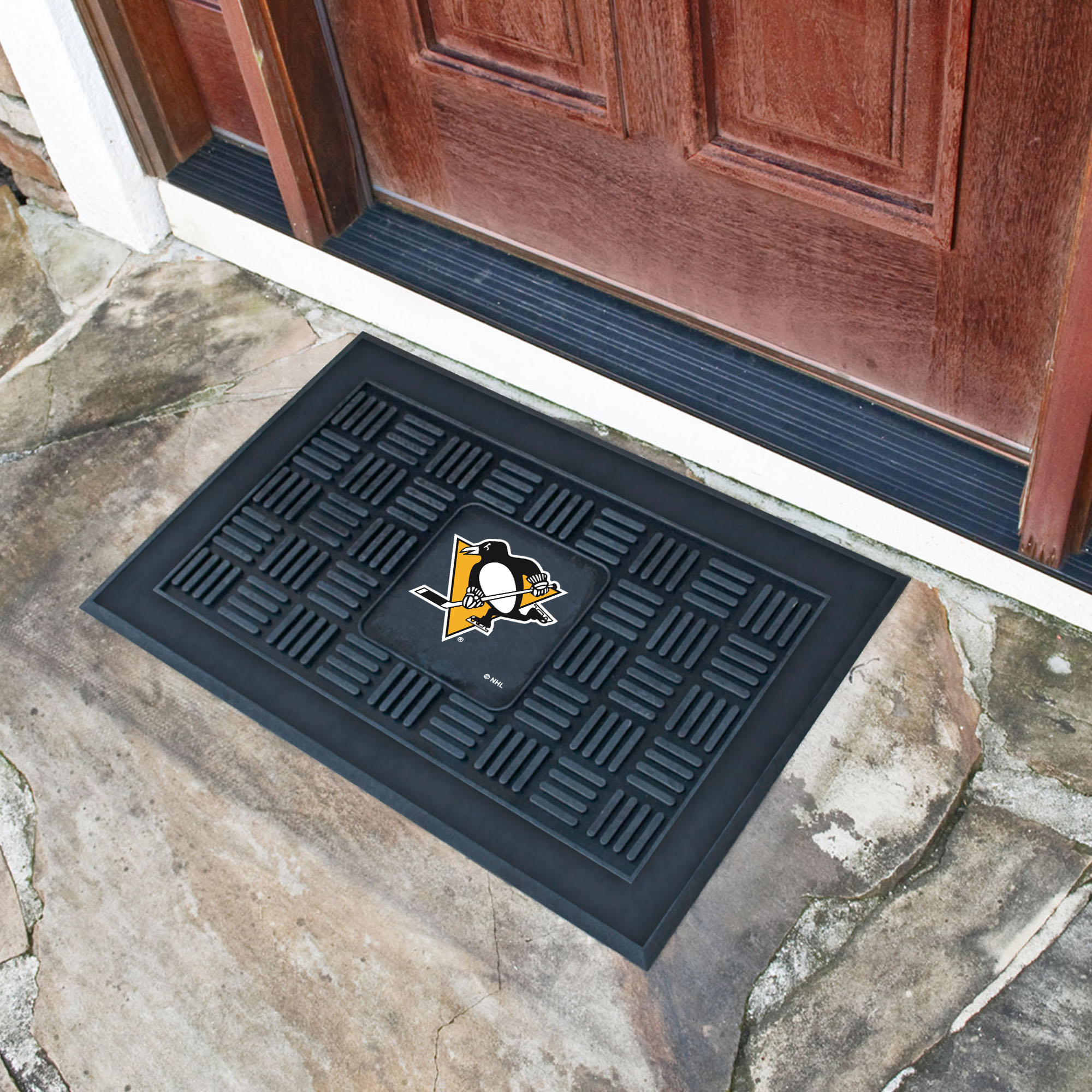 Pittsburgh Penguins MEDALLION Vinyl Door Mat