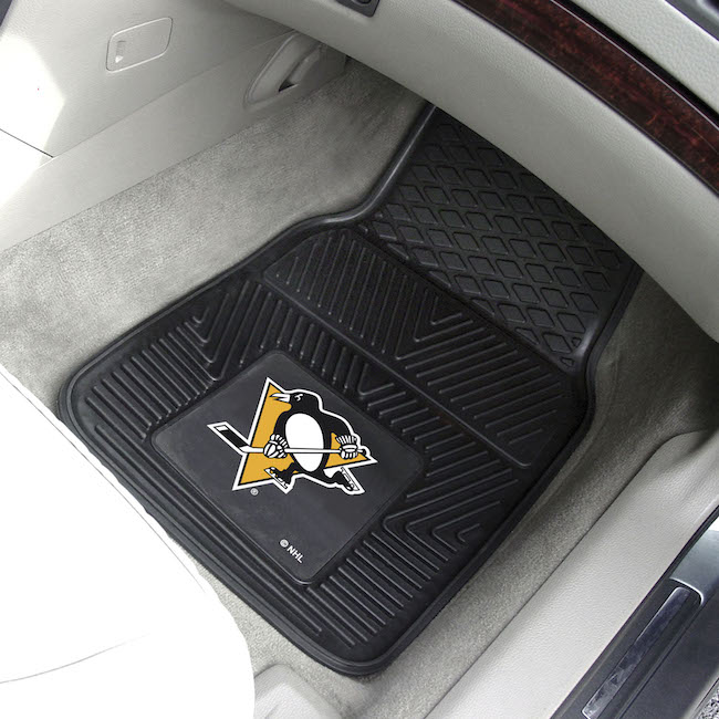 Pittsburgh Penguins Car Floor Mats 18 x 27 Heavy Duty Vinyl Pair